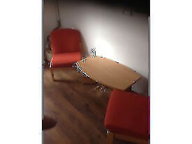 Budget Orange Reception Chairs (Require Cleaning) Hence Price