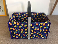 Tiger Blue Picnic/ Storage Basket - Collapsible £3