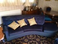vintage G Plan sofa and chairs -probably 1950-1970-collection from Maulden