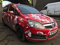 Vauxhall Zafira Life 2006 1.6 Petrol Red Breaking Spares - Wheel Nut