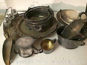 Lot of Vintage Silverplate