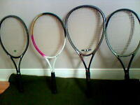 4 Tennis Racquets  with Bag/Cover, for Sale