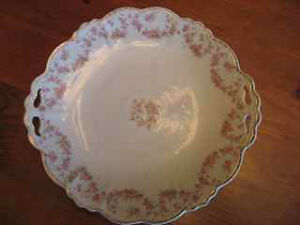 "Limoge ""Bridal Wreath"" round scalloped platter"