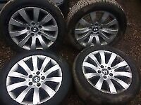 bmw e60 5 series se 17 inch alloy wheel set x4 with tyres for sale and fitted call