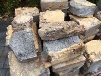 Hardcore rubble. Very heavy cut breeze blocks for hardcore. Free to collector