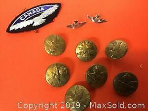 RCAF lot, including 2 sterling silver pins