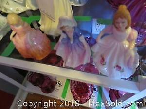 3 Royal Doulton Figurines - A