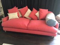 "Loaf Sofas (1 x medium ""Achilles"" sofa (raspberry) & 1 x large ""Crumpet"" sofa (surf)) £1050"