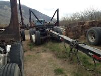 Columbia Tridem Pole Trailer, walking beam, SI Scale