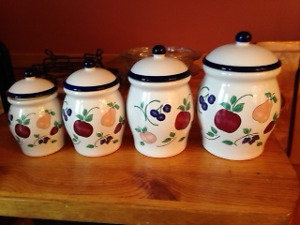 Princess House Crystal Orchard Melody Canister Set