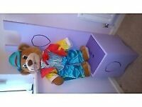 Lilac / Purple WOODEN KIDS / CHILDRENS CHAIR with STORAGE BOX Boys / Girls Toys