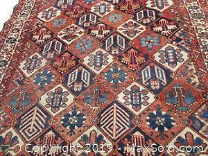 Persian Semi-Antique Bactria Rug. Hand Woven, All Wool Rug. Heavy Thick Rug.