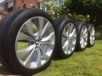 "OEM X5 E70 X6 E71 ORIGINAL BMW MSPORT Set of 20"" Alloy Wheels and Tyres"