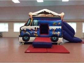Mickey and Minnie mouse bouncy castle with slide with soft play