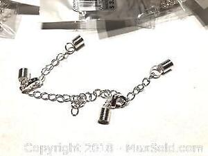 100 Sets Real silver plated 4mm Cords Clasps