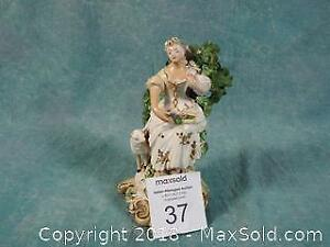 Victorian Figurine Probably Staffordshire or Chelsea porcelain.