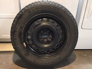 SET OF FOUR MICHELIN  WINTER TIRES ON RIMS