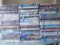 123 dvds with some blu rays in the lot.