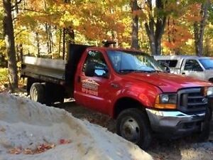 01 f450 4x4 automatic with plow dump box