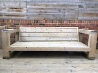 Large wooden bench