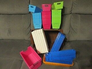 handy plastic organisers for desk, craft-room, tool-shed......