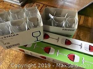 17 new IKEA wine glasses - two sizes