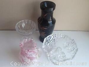 Vintage Glass Pieces And More