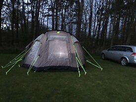 Full Camping Set, Including tent, footprint, carpet all kitchen furniture, gas bottles, cooker etc.