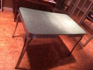 Green Formica Table