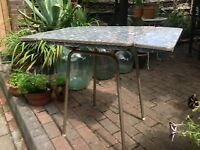 Retro Mid Century kitchen Formica compact table
