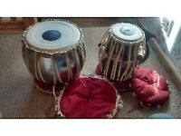 Tabla Drums from India with floor stands and covers