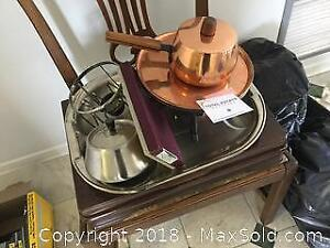 Copper, Stainless Fondue Sets and Stainless Flatware