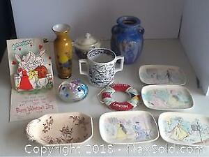 Lot Of Vintage Glass China And More