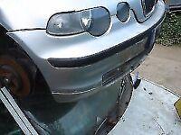 BMW e46 320d COMPACT BUMPER IN SILVER