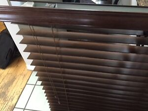 2 WOOD BLINDS COLOUR BROWN 35.00 EACH