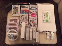 Console de Jeu video Wii avec 4 manette et plusieurs jeux