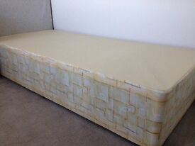 Single Bed, Excellent Condition hardly used, must collect, rated Medium, No storage