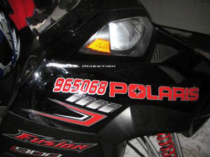 Snowmobile and Boat registration numbers