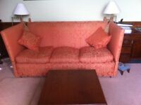 Large Knole sofa, hand made in Bath, in excellent condition.