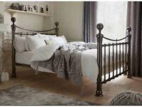 Luxury Black/Bronze Metalic Finish Bed Frame