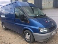Blue Ford Transit *Very reliable*