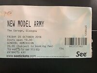 New Model Army The Garage Glasgow 05th October 2018
