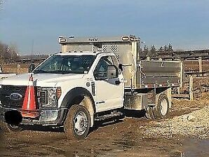 2017 Ford F450 diesel dump truck with 12' aluminum box