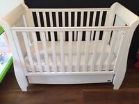 tutti bambini Baby/Infant Cot bed 60x120 with custom mattress in like new condition