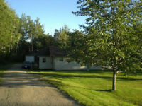 BUNGALOW ON 1 ACRE LOT WITH DOUBLE GARAGE IN DOAKTOWN..