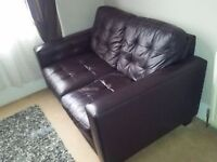 Double Leather Sofa - QUICK SALE