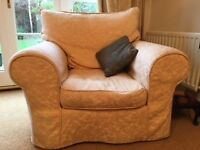 Sofas x2 and armchair . Clean good quality fire retardant,nonsmoking household. Washable covers.