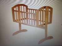 Mothercare Swinging Crib - Must go - Only £30 - Real Bargain, Moving abroad