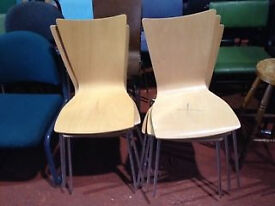 Beech Stackable Bistro Chairs