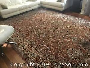 Vintage Large Hand Made Rug 11ft 4 In X 8 Ft 2 In